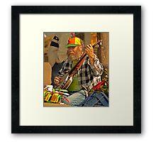 San Francisco Street Musician with Banjo  Framed Print