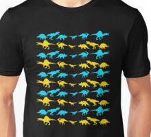 Dinosaur World Blue and Yellow Unisex T-Shirt