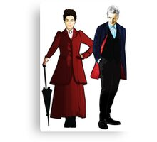 Doctor Who - 12th Doctor and Missy Canvas Print