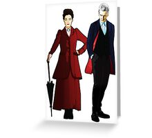 Doctor Who - 12th Doctor and Missy Greeting Card