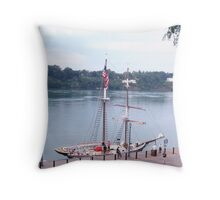 The Black Pearl at Lewiston Dock Throw Pillow
