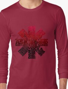 Red Hot Chilli Peppers Typography  Long Sleeve T-Shirt