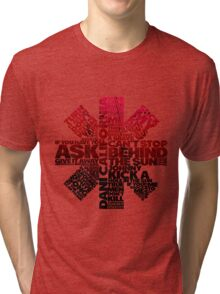 Red Hot Chilli Peppers Typography  Tri-blend T-Shirt