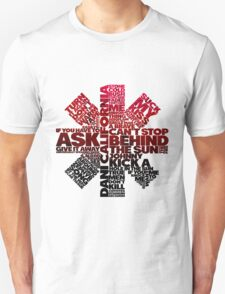 Red Hot Chilli Peppers Typography  T-Shirt