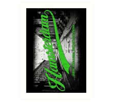 Hamsterdam - Cloud Nine Edition (Green) Art Print