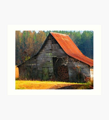 Charming Rural Barn Art Print