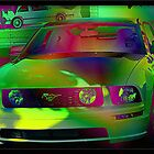 Mustang In Neon by Candy Anne Anguiano