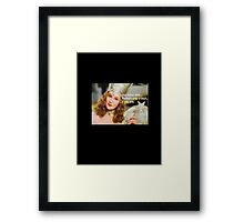Karma is only a bitch if you are Wizard Of Oz Framed Print