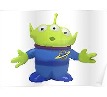 Pixel Alien from Toy Story  Poster