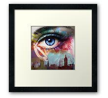 Eye of the Flower Framed Print
