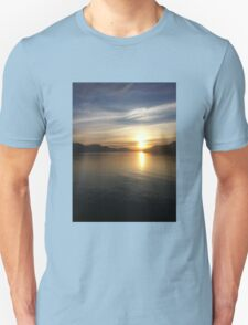Sunrise boat ride Unisex T-Shirt