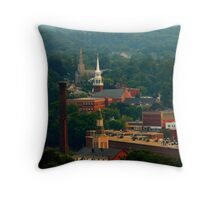 Dover, NH - Three Steeples Throw Pillow