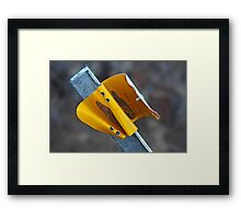 Yellow Road Reflector Framed Print