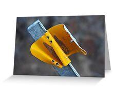 Yellow Road Reflector Greeting Card