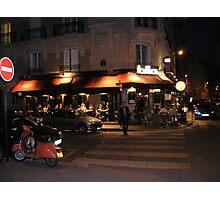 Paris Bistro at Night Photographic Print