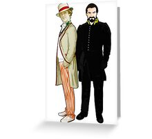 Doctor Who - 5th Doctor and The Master Greeting Card