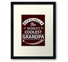 The World's Coolest Grandpa Framed Print