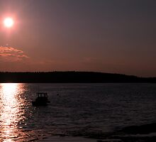 Sunset  Boothbay Harbor Maine by Craig France