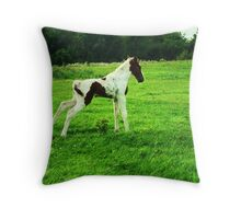 Rocking Horse Too Throw Pillow