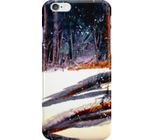 Landscape...On a Snowy Evening iPhone Case/Skin