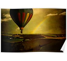 Rainbow Balloon Poster