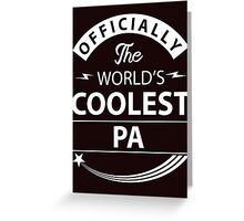 The World's Coolest Pa Greeting Card