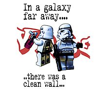 In a galaxy..there was a clean wall by #fftw Photographic Print