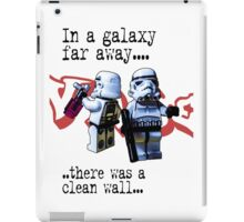 In a galaxy..there was a clean wall by #fftw iPad Case/Skin