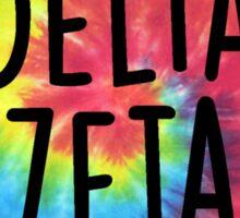Delta Zeta Tie Dye Heart Sticker