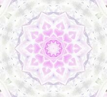 Pink & White Lacy Kaleidoscope Hearts Pattern by HavenDesign
