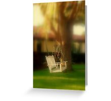 Swing with me Greeting Card