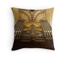The Organ Throw Pillow
