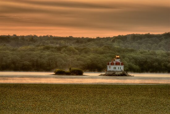 Sunrise over the Esopus Meadows Lighthouse by JHRphotoART