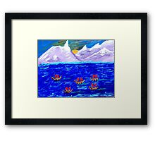The Voyage Acrylic Painting Framed Print