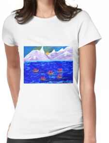 The Voyage Acrylic Painting Womens Fitted T-Shirt
