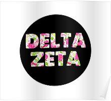 Delta Zeta Flower Circle Poster
