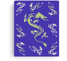 Plethora of Coloured Dragons Canvas Print