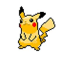 Pikachu in Pixels Photographic Print