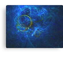 A Perfect Bubble Floating in a Bath of Light | Fractal Starscape Canvas Print