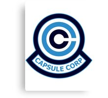 The Capsule Corporation, Blue Logo (Dragonball Z) Canvas Print