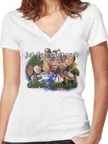 DANK MEMES M8 Women's Fitted V-Neck T-Shirt