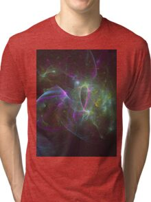 The Amount of Fruity Loops Consumed in a Lifetime as Meteors | Fractal Starscape Tri-blend T-Shirt