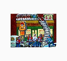 POULET ST.HUBERT BBQ RESTAURANT MONTREAL WITH STREET HOCKEY CANADIAN ART Unisex T-Shirt