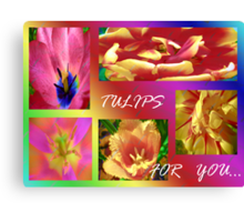 Tulips for You.Collage. Canvas Print