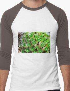 flower macro, Scabiosa Caucasia Men's Baseball ¾ T-Shirt