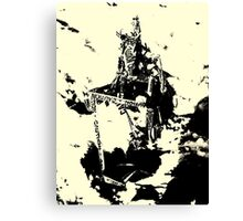 Caution Abtract Canvas Print