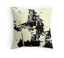 Caution Abtract Throw Pillow
