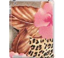 Cool brown pink black floral animal print iPad Case/Skin