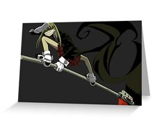 soul eater maka albarn anime manga shirt Greeting Card