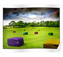 Multicolored Bales Fantasy Poster
